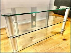 LUXURY GLASS TV STAND TELEVISION TABLE FURNITURE
