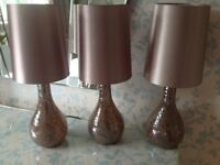 Table lamps, small