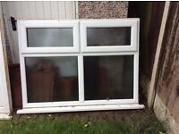 White UPVC Window with frosted glass