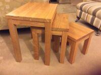 Light Oak Nest of Side Tables