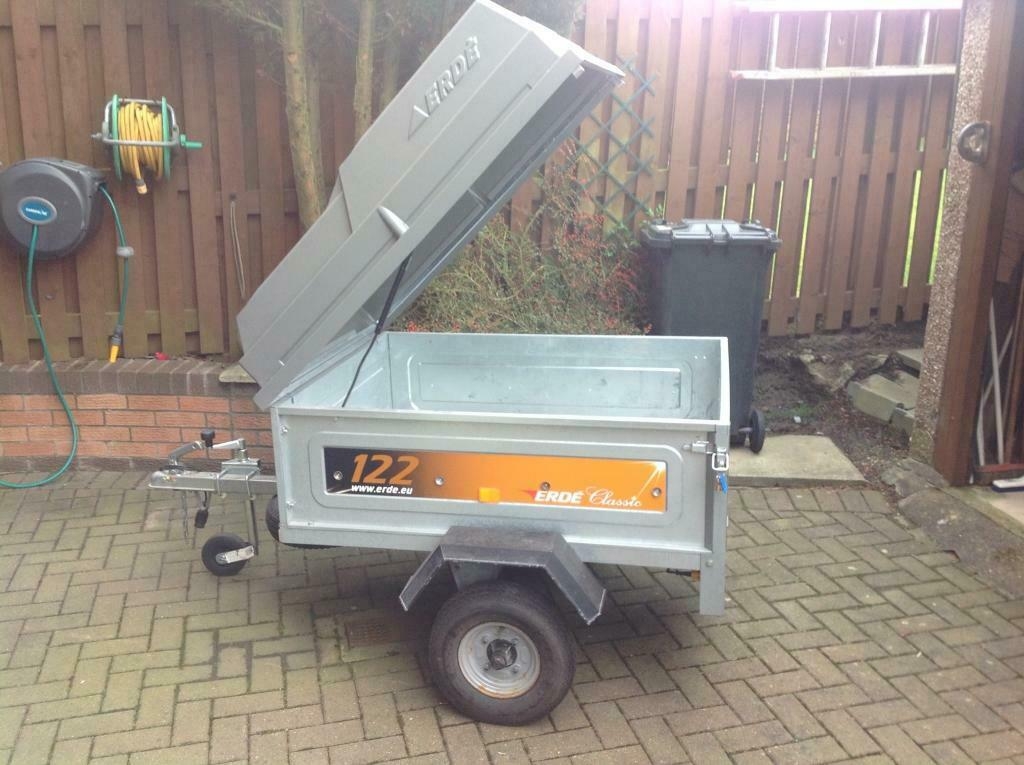 Erde Trailer 122 with lockable Hardtop + Outwell Wyoming ...