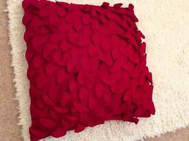 Gorgeous Paoletti red petals wool cushion with insert
