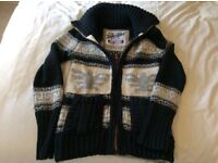 Ladies Superdry knitted zipped cardigan