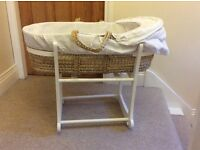 Moses basket and rocking cradle (John Lewis)
