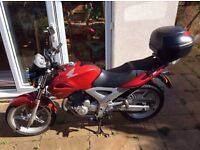 Honda CBF 250 (2007) low mileage, great condition, with Givi top box and extras