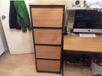 Natural Light Wood Filing Cabinet