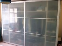 Ikea Pax Wardrobe with Double frosted glass sliding doors - The Largest Pax combination available!!