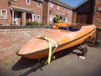 Speedboat 14ft Marina with road trailer (no outboard)