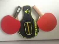 Table tennis bats x 2 & case