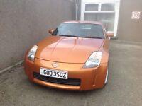 Nissan 350Z Sports Car - Private No. Plate - Orange