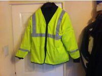 new hi viz over jacket 54xl chest long sleave jacket