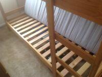 Pine bunk beds with mattresses. Excellent condition