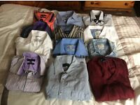Men's shirts. Medium. 12 in total. Long and short sleeved. Great quality