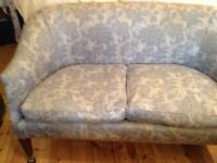 Antique victorian tub style two seater settee on castors