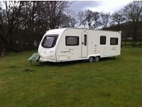 Avondale Argente 650/6 twin axle touring caravan can sleep up to six comfortably