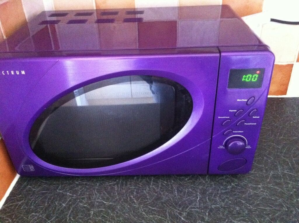 Spectrum Purple Microwave Ing In Dunelm