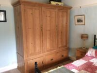 VICTORIAN PINE WARDROBE. FANTASTIC HANGING AND STORAGE SPACE.