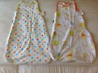 Unisex twin pack grobags 1 tog for age 0-6 months