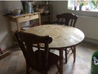 Lovely pine table and chairs