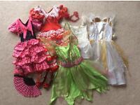 Dressing up dresses including tinker bell