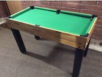 VGC Ultimate Sports Table (Snooker Air Hockey Table Tennis Shove Ha'penny Target Chess Backgammon)