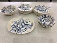 Set of Blue & White English Ironstone Tableware