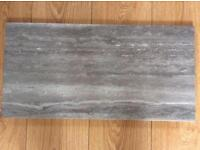 Grey Porcelain, slate effect, floor and wall tiles, less than half shop price