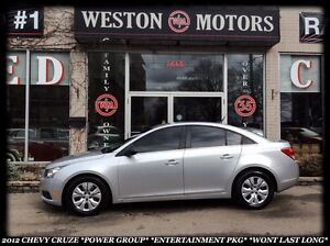 2012 Chevrolet Cruze *POWER GROUP *ENTERTAINMENT PKG *WONT LAST