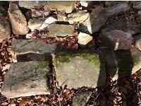 Reclaimed pennant garden walling stone