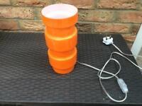 Orange glass lamp