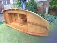 Mirror dingy plus road trailer. Not used by present owner. Parts as per photos. Hull needs painting