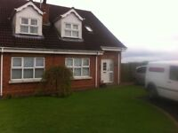 Beautiful fully furnished house for rent very close to craigavon hospital