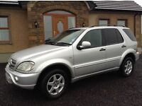 August 2001 2.7 Mercedes-Benz ML270 CDI Auto 5dr Estate Diesel Silver 7seats 4x4 not BMW Audi Honda