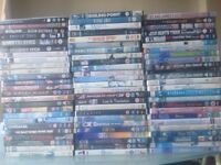 DVDs and Bluray films. 123 in total.