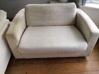 Sofa 2 Seater in Cream Fabric