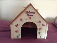Wooden house for small/medium rabbit.