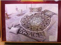 Versace 4Pcs 3D Bed set Double White