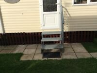 Galvanised caravan steps