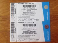 2 Steps Tickets Greenwich 5 July 2018 - Good seats £90 for the 2