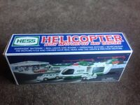 Amerada Hess boxed helicopter with motorcycle plus cruiser