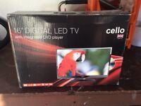 """16"""" dual power tv/DVD for caravan"""