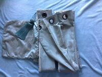 Bay Window Quality Curtain Bundle - Teal/grey