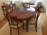 Cherry wood dining room suite