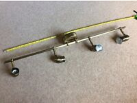 Antique Brass Finish, 4 spot light fitting