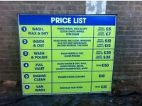 Hand Car Wash Price List