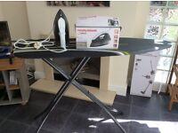 Morphy Richards breeze iron and large ergo ironing board