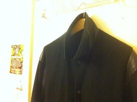 Vintage Black on Black Varsity/Baseball/College/Bomber Jacket / Unisex / Size M