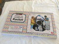 Hobbycraft Colour-In Cardboard Rocket New, Unopened.