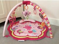 Pink baby gym
