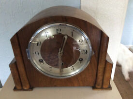 OLD CHIMING WOODEN CLOCK
